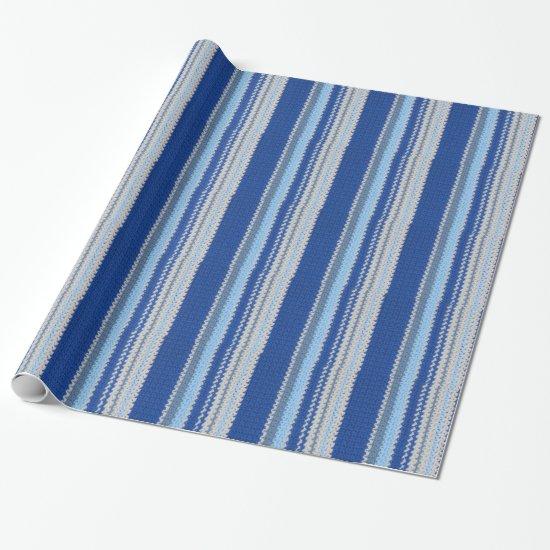 Gift Wrap - Crochet in blue stripes
