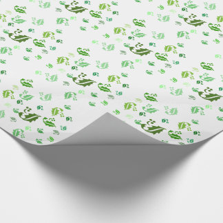 Gift Wrap - Jumbled Holly Leaves