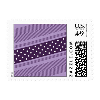 Gift Wrap - Purple & Gold Postage
