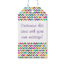 Gift Wrap - Rainbow Chevron Pattern (1) Gift Tags