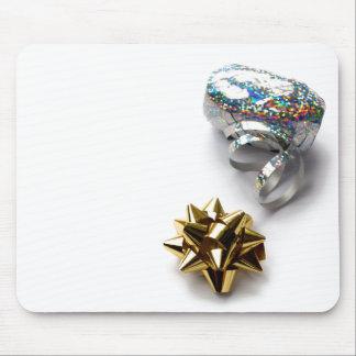 Gift Wrap Shiny Bow and Ribbon Mouse Pad