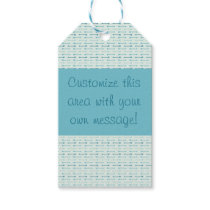 Gift Wrap - Teal Arrows (1) Gift Tags