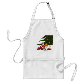 Gift Wrapped Cats Apron
