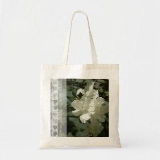 Giftbag blanco de la azalea, tote bolsa tela barata