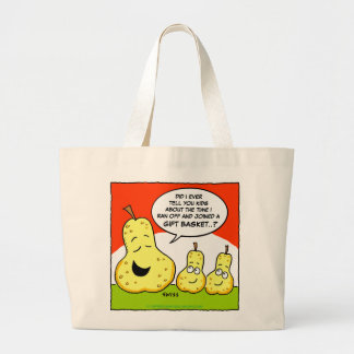 Giftbasket Pears Funny Cotton Grocery Tote Bag