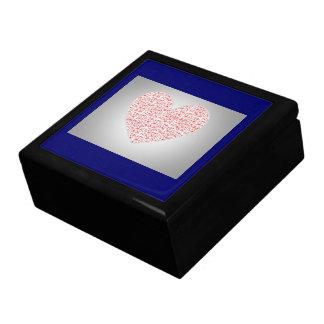 GIFTBOX.7315.HEARTS.BLUE KEEPSAKE BOXES