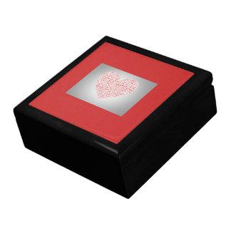 GIFTBOX.7318.HEARTS.RED.BLACK TRINKET BOX