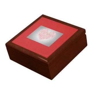 GIFTBOX.7318.HEARTS.RED.OAK JEWELRY BOX