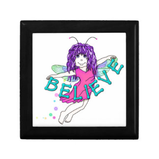 Giftbox, Ceramic Tile insert Cute Fairy Believe Gift Box