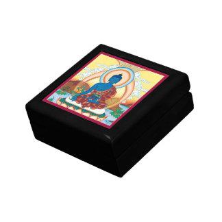 GIFTBOX con la TEJA - medicina Buda Joyero Cuadrado Pequeño
