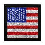 Giftbox de la bandera americana del vintage cajas de recuerdo
