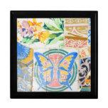 Giftbox de los mosaicos de Guell del parque Cajas De Regalo