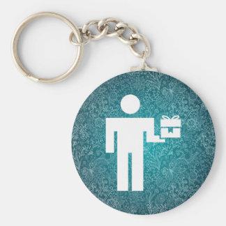 Giftbox Deliveries Minimal Basic Round Button Keychain