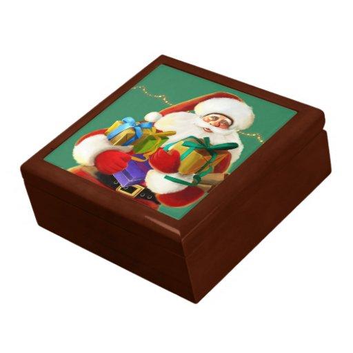 giftbox feliz de santa del dibujo animado cajas de regalo