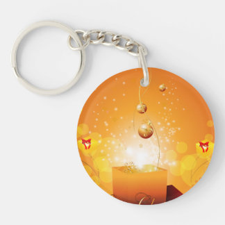 Giftbox Single-Sided Round Acrylic Keychain