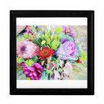"""giftbox """"ramo de las flores que casan"""" la foto cajas de recuerdo"""