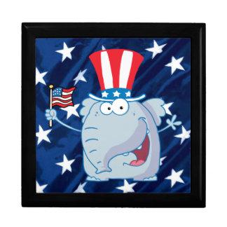 giftbox republicano del tophat del elefante caja de joyas