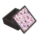 Giftbox retro lindo del búho caja de recuerdo de calidad