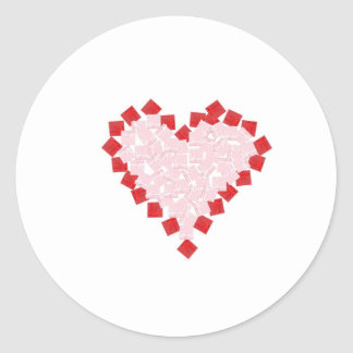 Giftboxes in the shape of a heart classic round sticker