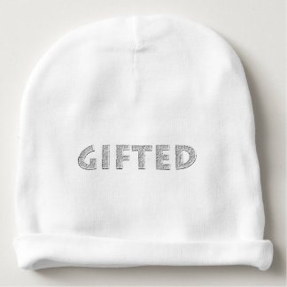 Gifted concept. baby beanie