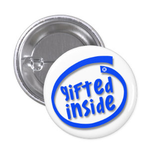 Gifted Inside 1 Inch Round Button