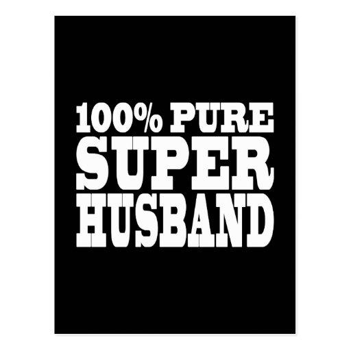 Gifts 4 Husbands : 100% Pure Super Husband Postcard