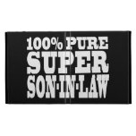 Gifts 4 Sons in Law : 100% Pure Super Son in Law iPad Folio Covers