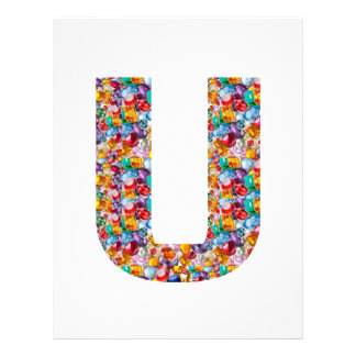 Gifts alphabet U UU name birthday girl boy kids Letterhead