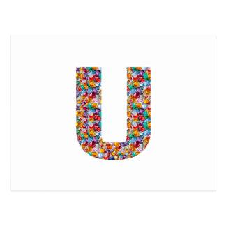 Gifts alphabet U UU name birthday girl boy kids Postcard