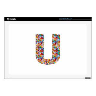 Gifts alphabet U UU name birthday girl boy kids Skins For Laptops