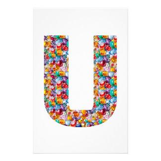 Gifts alphabet U UU name birthday girl boy kids Stationery