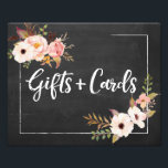 "Gifts and Cards Rustic Floral Wedding Sign<br><div class=""desc"">• • • • Visit http://bit.ly/2rwj7Il for the complete Penelope suite.</div>"