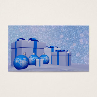 Gifts and christmas balls business card