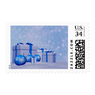 Gifts and christmas balls postage