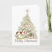 Gifts and Christmas Tree Merry Christmas Cards