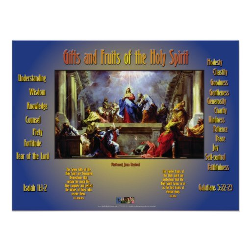 Gifts and Fruits of the Holy Spirit Poster