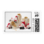 Gifts and gnomes postage stamp