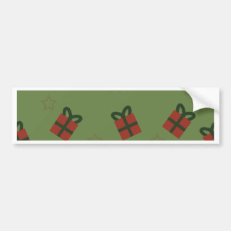 Gifts and stars pattern bumper sticker
