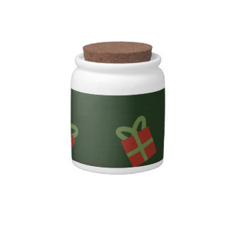Gifts and stars pattern candy jar