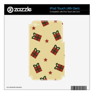 Gifts and stars pattern decals for iPod touch 4G