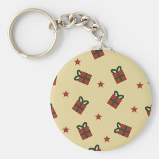 Gifts and stars pattern keychain