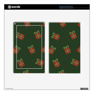 Gifts and stars pattern kindle fire skin