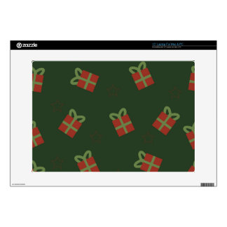 Gifts and stars pattern laptop skins
