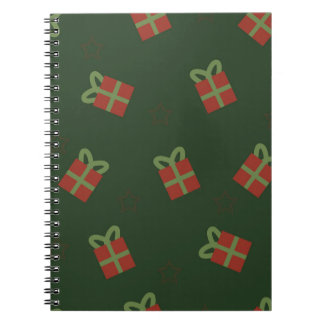 Gifts and stars pattern notebook