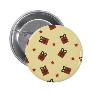 Gifts and stars pattern pinback button