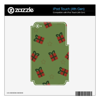 Gifts and stars pattern skin for iPod touch 4G