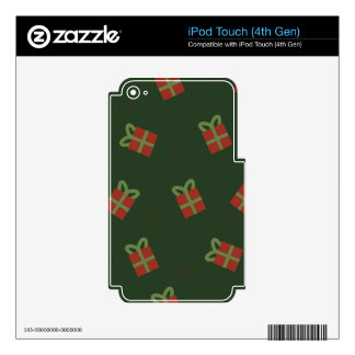 Gifts and stars pattern skins for iPod touch 4G