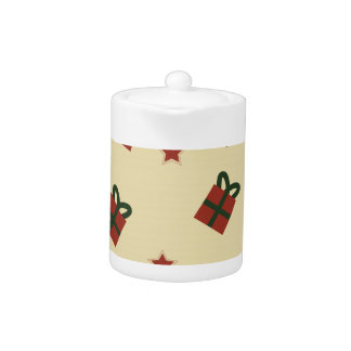Gifts and stars pattern teapot