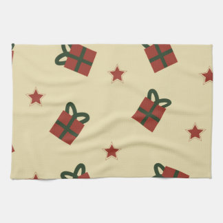 Gifts and stars pattern towel