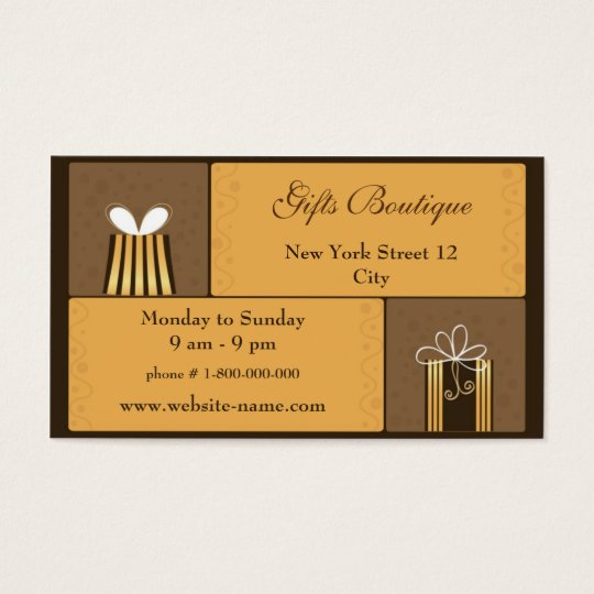 Gifts Boutique Business Card